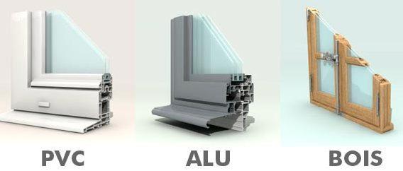 ch ssis en alu bois pvc quelles sont les diff rences. Black Bedroom Furniture Sets. Home Design Ideas